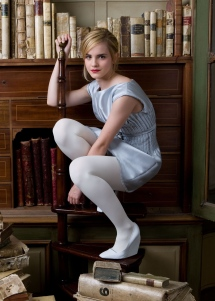 Emma Watson in White Pantyhose 01