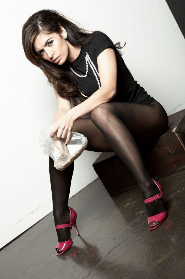 Sarah Shahi Pantyhose Nino Munoz photoshoot 03