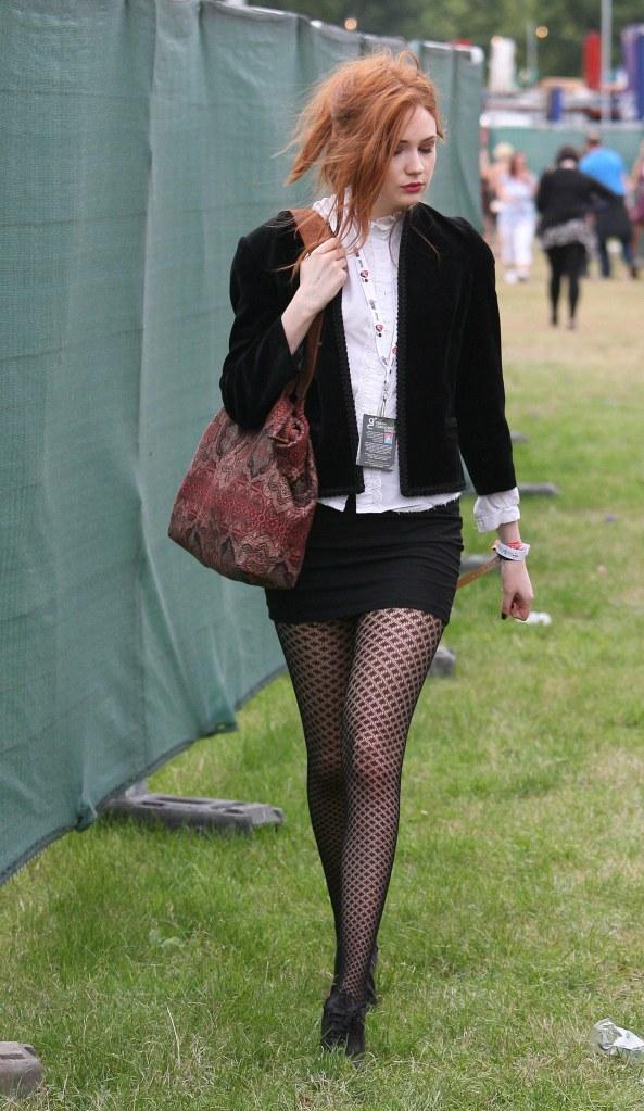 Karen Gillan - V-Festival at Hylands Park, London, 08/23/2010